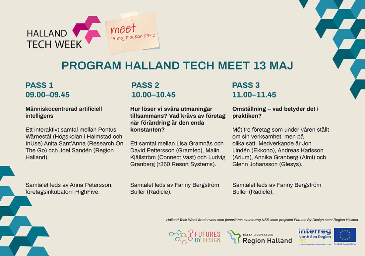 Program för Halland Tech Meet den 13 maj 2020