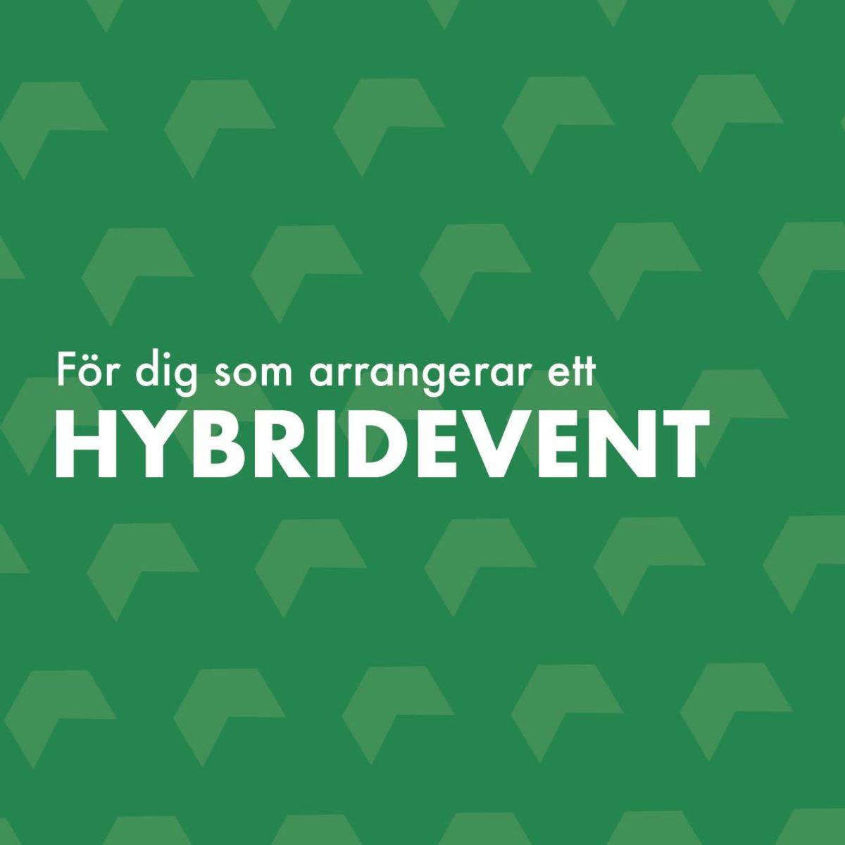 För dig som arrangerar ett hybridevent.